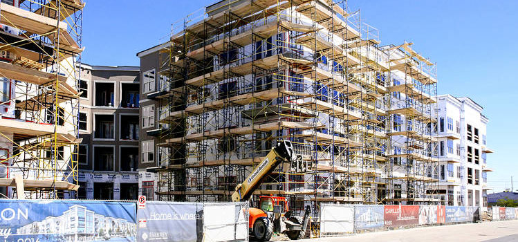 Photo of low income apartment building under construction