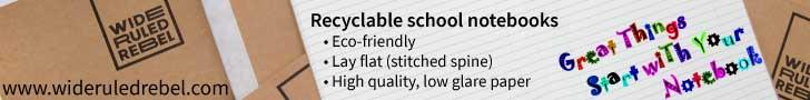 School Notebooks recyclable
