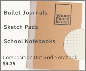 BuJo notebook ad